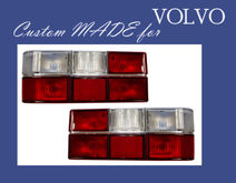 VOLVO 240 85-93 CUSTOM TAIL LIGHT TAIL LAMP SET W/ Clear Signal Lenses TVV2226/7