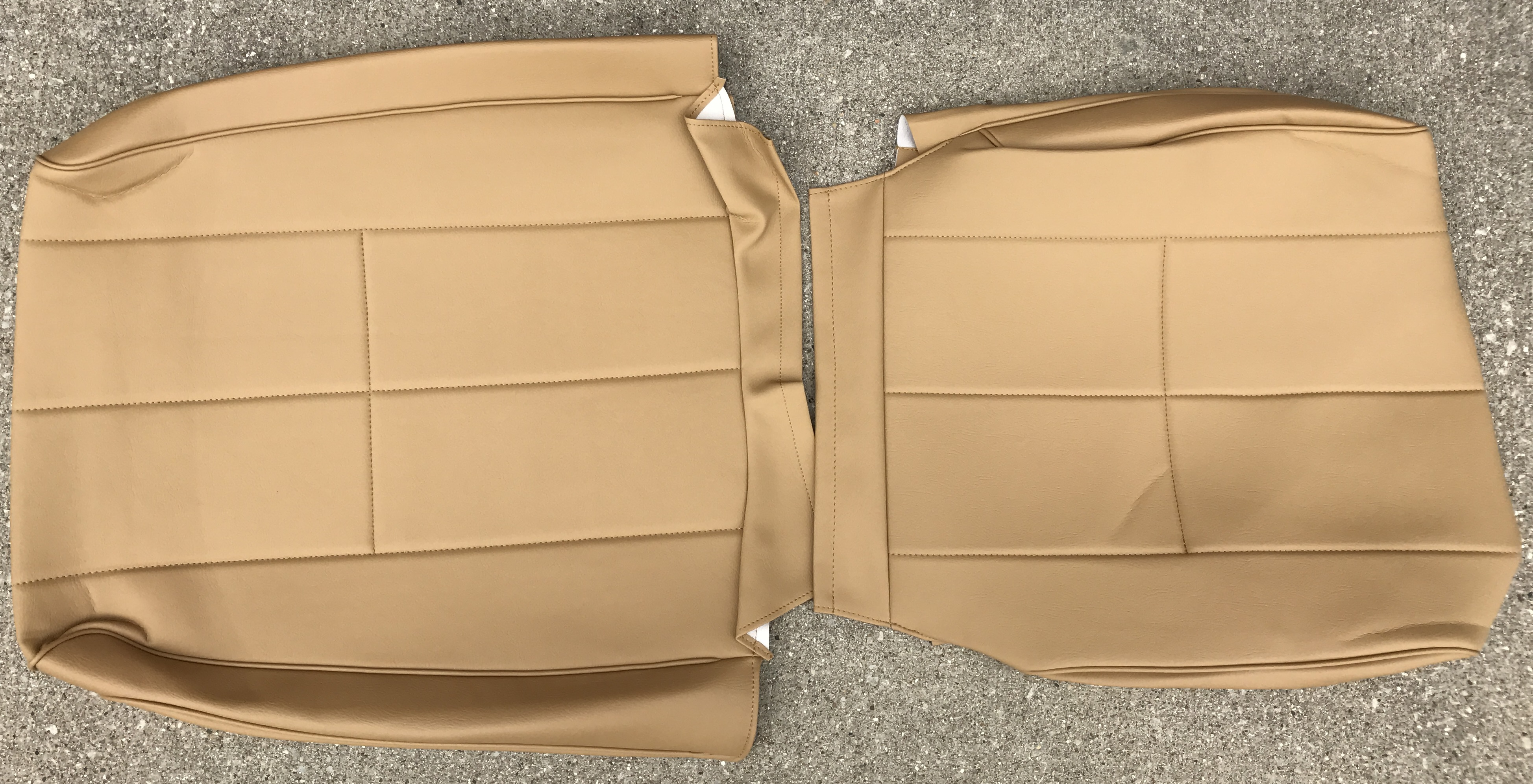 Front Cream Leatherette seat covers fit Volvo XC90 1+1 black//beige