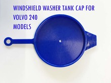 Volvo 240,140, 160,  Windshield washer tank filler cap cover lid blue